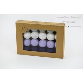 Cotton illuminating ICE marbles Cotton Balls - purple, cotton love